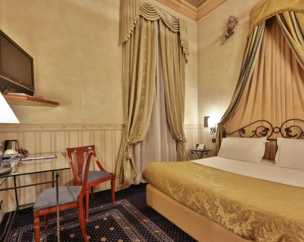 Discover the double rooms of our 4-star hotel in the centre of Turin
