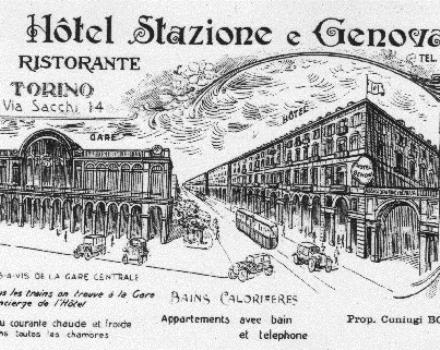 1920-the initial task was to Inn, with around 20 rooms for travellers heading to Genoa. Hence the name Hotel station and Genoa