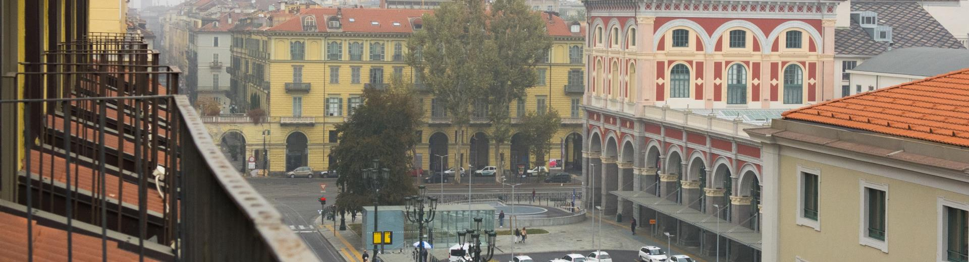 Porta Nuova and the parking